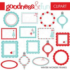 Buy 2 Sets Get 2 Sets FREE  Digital Winter by goodnessandfun, $5.00
