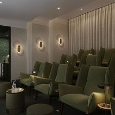 Screening room | cinema room | One Crown Place | by Studio Ashby
