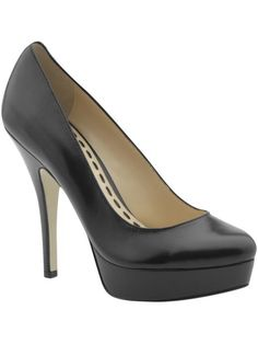 basic black platform shoes