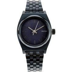 Nixon Wrist Watch (€105) ❤ liked on Polyvore featuring jewelry, watches, slate blue, stainless steel jewelry, nixon watches, stainless steel watches, stainless steel jewellery and nixon wrist watch