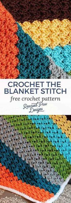 Blanket Stitch Crochet Pattern - Free Crochet Pattern