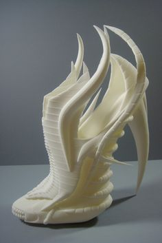 3D printed exoskeleton shoes designed by Janina Alleyne.  3D PRINTED.