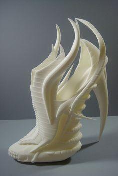 3D printed exoskeleton shoes designed by Janina Alleyne.  3D PRINTED.