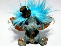 OOAK Steampunk Gargoyle Trollfling Troll doll by Trollflings, $135.99