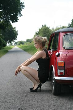 Merel Zoet and her oldtimer mini special