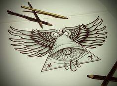 Tattoo #wings #eye #blackandwhite #triangle #drawing #art #inspiration