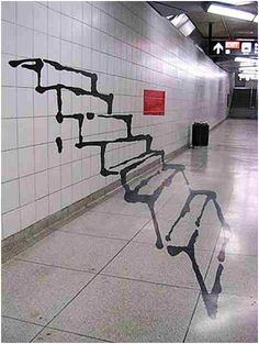 Subway Illusion Graffiti in Toronto