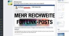 allfacebook.de | Update am Newsfeed Algorithmus: Mehr Reichweite im Facebook Newsfeed für Link-Posts