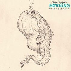 Lurking in the deep... #morningscribbles   출처: CHRIS RYNIAK