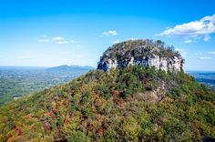 A visit to Pilot Mountain State Park is one of the fun things to do in Mount Airy, North Carolina. The Big Pinnacle can be seen for miles around.