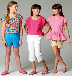 M6917, Children's/Girls' Tops, Shorts and Pants