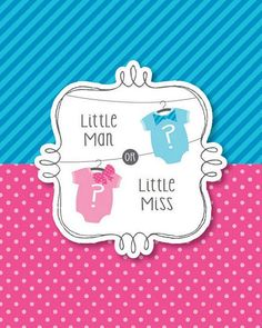 Bow or Bow-tie Gender Reveal Invitations | 8 count