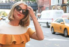 The Camilyn Beth Lena Dress in Mustard | FW16 | Taxi Time | NYC Style