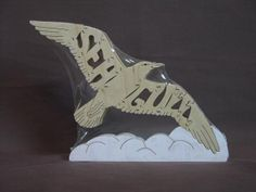 Seagull Bird Puzzle Wooden Toy Hand Cut with Scroll by Puzzimals, $12.00