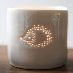 Porcelain Hedgehog Tea Light