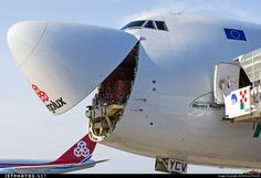 A Smiling B747 is ready for a new flight. Boeing 747-4R7F(SCD) LX-YCV 35805 Milano Malpensa - LIMC