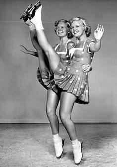 ice skaters Joyce and Joanne Scotvold