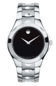 Movado 'Luno Sport' Stainless Steel Bracelet Watch, 41mm