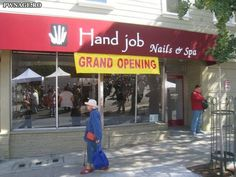 Funny pictures about Grand opening. Oh, and cool pics about Grand opening. Also, Grand opening. Funny Ads, Funny Signs, The Funny, Funny Jokes, Funny Headlines, Funny Humour, That's Hilarious, Cartoon Jokes, Silly Memes