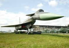 """No you guessed wrong, this is not the XB-70.  This is Sukhoi T-4, a Russian attempt to emulate the USAF XB-70 Valkyrie mach-3 bomber. The T-4 (sometimes incorrectly referred to as the Su-100) is largely constructed from titanium and stainless steel and featured the world's first """"fly by wire"""" control system."""