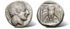 Silver Decadrachm Ancient Coin of Athens