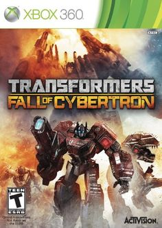 Transformers: Fall of Cybertron. Transformers: Fall of Cybertron transports you to the final days of the planet Cybertron the place you'll experience the darkest hours of the apocalyptic conflict between the Autobots and Decepticons. Xbox 360, Playstation, Nemesis Prime, Activision Blizzard, Latest Video Games, Vw Touran, Xbox One Games, Tk Maxx, T Rex