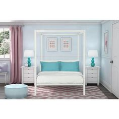 Shop for DHP Modern White Metal Full Canopy Bed . Get free delivery at Overstock.com - Your Online Furniture Outlet Store! Get 5% in rewards with Club O!