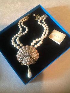 Heidi-Daus-NIB-Jewel-of-The-Sea-Shell-Pearl-Choker-Necklace-STATEMENT