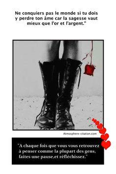 Ne conquiers pas le monde si tu dois y perdre ton âme  Trouvez encore plus de citations et de dictons sur: http://www.atmosphere-citation.com/inspiration-du-matin/ne-conquiers-monde-dois-y-perdre-ame.html?