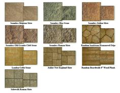 Stamped Concrete Color Combinations Flooring In 2019