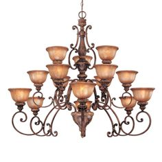 Minka Lavery 1359-177 15 Light ThreeTier Chandelier, Illuminati Bronze™ - Lighting Universe