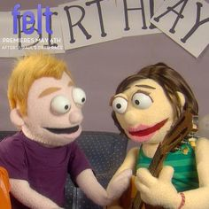 "The 2013 Logo TV series ""Felt"" featured puppets acting out audio transcripts of couples therapy"