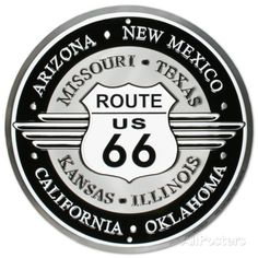 Route 66 Tin Sign at AllPosters.com