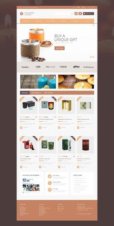 'Handmade Candles' #webdesign for #PrestaShop Template http://zign.nl/51078