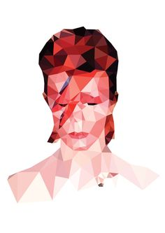 Designy t-shirts and art prints for nice people. David Bowie Tribute, David Bowie Art, Wild Is The Wind, Polygon Art, Popular Art, Graphic Design Art, Embroidery Art, Aladdin, 3 D