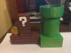 Super Mario - Desktop PLANTED POT Planter by DATAWIZ2. Based on a design by benj32410.