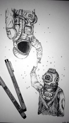 This seems like me and my best-friend because i'm obsessed with the ocean and she's obsessed with space.
