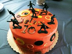 Camouflage Army Guy Men Cake designed for a 10th Birthday by Patsy's Sweet Shoppe in West Allis, WI