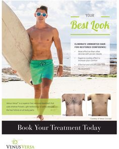 Eliminate unwanted hair for restored confidence...... Experience the painfree & safe hair removal with Venus Versa. Find your nearest Venus certified provider today @ www.venustreatments.com  #VenusVersa #VenusBeauty