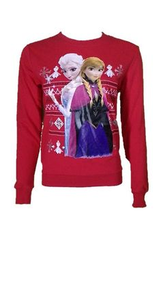 Disney Red Frozen Anna and Elsa Sweater