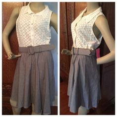 "Selling this ""Betsey Johnson Sleeveless Lace Belted Dress"" in my Poshmark closet! My username is: scoulon. #shopmycloset #poshmark #fashion #shopping #style #forsale #Free People #Dresses & Skirts"