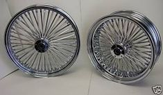 Image detail for -Chrome Mammoth Fat Spoke Wheels Harley 21x3 0 16x5 5 | eBay