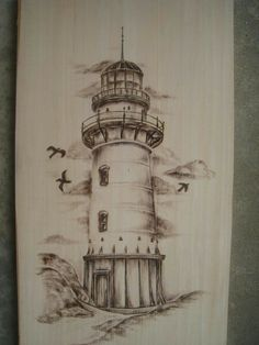 99 Best Unique Sleeve Tattoos for Men Lighthouse Sketch, Lighthouse Painting, Pencil Art, Pencil Drawings, Art Drawings, Graffiti Tattoo, Wood Burning Art, Desenho Tattoo, Drawing Sketches
