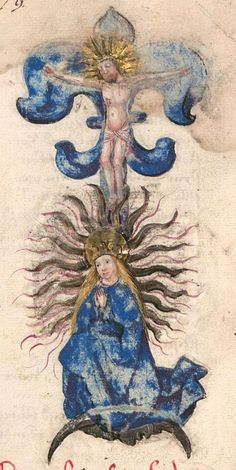 Imagery in the Buch der heiligen Dreifaltigkeit - Alchymical Marriage of Jesus and Mary - John Erickson - Gute Pin Angelic Symbols, Mary John, Christian Mysticism, Images Of Christ, Alchemy Art, Masonic Symbols, Demonology, Medieval Art, Illustrations And Posters