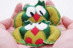 Pocket hand warmers Woodland Green Owl Felted Wool by MKTdesign, $14.50