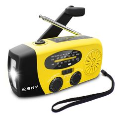 [2018 Upgraded] Esky Portable Emergency Weather Radio Hand Crank Self Powered AM/FM/NOAA Solar Radios with 3 LED Flashlight 1000mAh Power Bank Phone Charger USB, Solar, and Manual Charging Bring Electronics Back to Life Designed with Extremes in Mind: Hurricanes, tornadoes, rainstorms, fires, and more Ultra Bright Light Portable Radio On the Go #emergency #weatherradio #selfpower #solar #solarradio #portableradio #powerbank #survival #hiking #tactical #outdoor #camping #gear