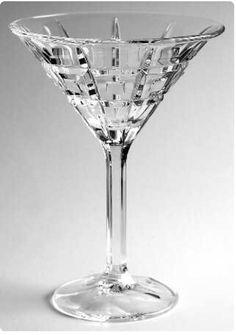 173ba2d6ac0 2 waterford crystal martini glasses quadrata barware with sticker clear cut