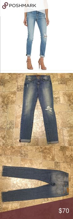 """Joes jeans skinny ankle vintage reserve in cooper Awesome jeans that have been seen on Heidi Klum and other celebrities. Distressed, can be worn rolled or not. Inseam is 30"""" unrolled. NWOT, never worn and in perfect condition. Joe's Jeans Jeans Ankle & Cropped"""
