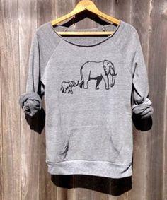 Elephant Pattern Sweatshirt ==