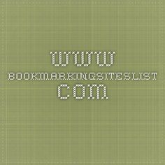 www.bookmarkingsiteslist.com